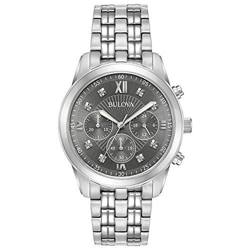 ブローバ 腕時計 メンズ 【送料無料】Bulova Men's Chronograph Stainless Steel Watch, Grey Dialブローバ 腕時計 メンズ