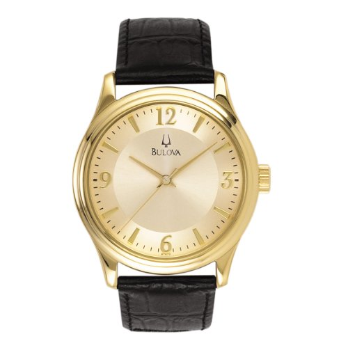 ブローバ 腕時計 メンズ Bulova Men's Leather Band Watchブローバ 腕時計 メンズ