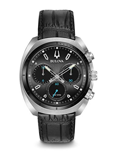 ブローバ 腕時計 メンズ BULOVA Grey Leather Watch-98A155ブローバ 腕時計 メンズ