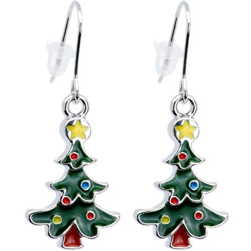 ボディキャンディー ピアス アメリカ 日本未発売 ブランド 【送料無料】Body Candy Ready for Santa Decorated Christmas Tree Holiday Dangle Earringsボディキャンディー ピアス アメリカ 日本未発売 ブランド