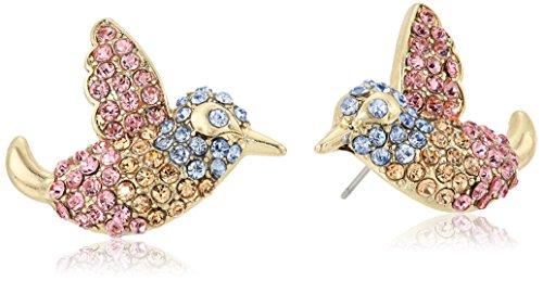 ベッツィ・ジョンソン ピアス アメリカ 日本未発売 ブランド Betsey Johnson Pave Bird Button Stud Earringsベッツィ・ジョンソン ピアス アメリカ 日本未発売 ブランド
