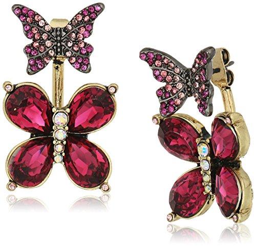 ベッツィ・ジョンソン ピアス アメリカ 日本未発売 ブランド Betsey Johnson Butterfly Pink Butterfly Front Back Drop Earringsベッツィ・ジョンソン ピアス アメリカ 日本未発売 ブランド