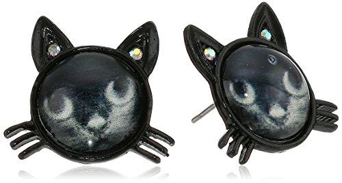 ベッツィ・ジョンソン ピアス アメリカ 日本未発売 ブランド 【送料無料】Betsey Johnson Women's Creepshow Cat Stud Earrings Black/Pot Black Stud Earringsベッツィ・ジョンソン ピアス アメリカ 日本未発売 ブランド