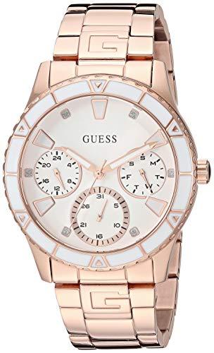 ゲス GUESS 腕時計 レディース 【送料無料】GUESS Rose Gold-Tone Bracelet Watch with Day, Date + 24 Hour Military/Int'l Time. Color: Rose Gold-Tone (Model: U1158L2)ゲス GUESS 腕時計 レディース