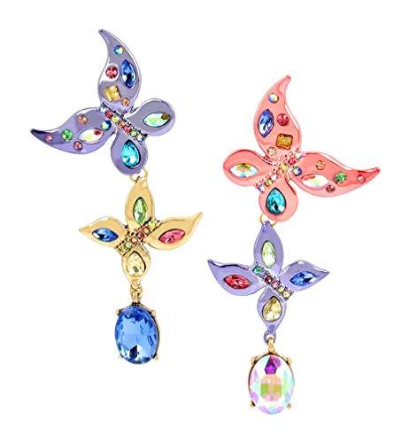 ベッツィ・ジョンソン ピアス アメリカ 日本未発売 ブランド Betsey Johnson Womens Blooming Betsey Colorful Mismatch Butterfly Drop Earrings, Multi, One Sizeベッツィ・ジョンソン ピアス アメリカ 日本未発売 ブランド