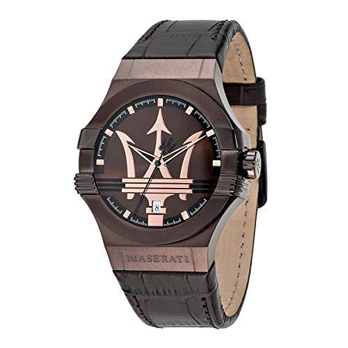マセラティ イタリア 腕時計 メンズ 【送料無料】Maserati Potenza Mens Analog Quartz Watch with Leather Bracelet R8851108011マセラティ イタリア 腕時計 メンズ