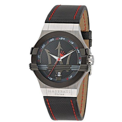 腕時計 マセラティ イタリア メンズ 【送料無料】Maserati Potenza Mens Analog Quartz Watch with Leather Bracelet R8851108001腕時計 マセラティ イタリア メンズ