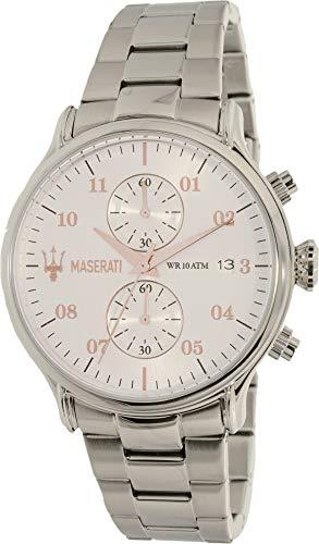 マセラティ イタリア 腕時計 メンズ Maserati R8873618002 Silver Steel Man Watchマセラティ イタリア 腕時計 メンズ
