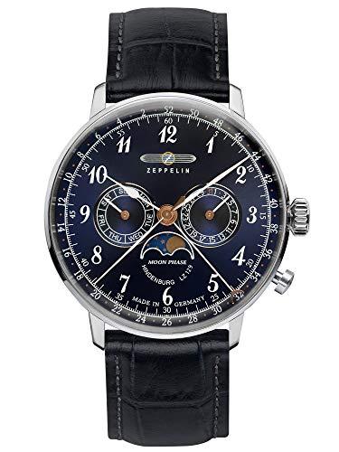 ツェッペリン 腕時計 メンズ ゼッペリン ドイツ 【送料無料】Graf Zeppelin Hindenburg Swiss Quartz Moonphase Calendar Dress Watch 7036-3ツェッペリン 腕時計 メンズ ゼッペリン ドイツ