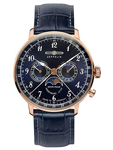 ツェッペリン 腕時計 メンズ ゼッペリン ドイツ 【送料無料】Graf Zeppelin Hindenburg Swiss Quartz Moonphase Calendar Dress Watch 7038-3ツェッペリン 腕時計 メンズ ゼッペリン ドイツ