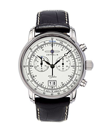 ツェッペリン 腕時計 メンズ ゼッペリン ドイツ Graf Zeppelin Chronograph Big Date Watch with 12-hr Totalizer, Leather Strap 7690-1ツェッペリン 腕時計 メンズ ゼッペリン ドイツ