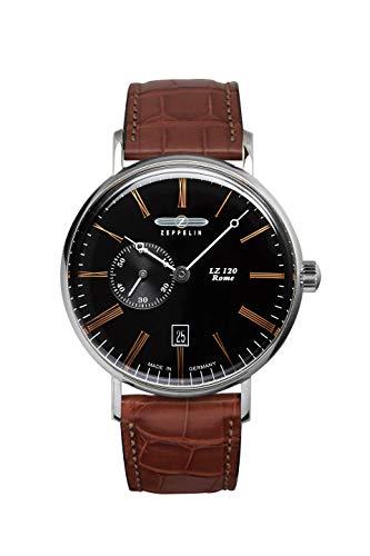 ツェッペリン 腕時計 メンズ ゼッペリン ドイツ Zeppelin LZ120 Rome Watch | Black/Brown Leatherツェッペリン 腕時計 メンズ ゼッペリン ドイツ