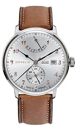 ツェッペリン 腕時計 メンズ ゼッペリン ドイツ Zeppelin LZ129 Hindenburg Silver Dial Brown Leather Band Men's Watch 7062-5ツェッペリン 腕時計 メンズ ゼッペリン ドイツ