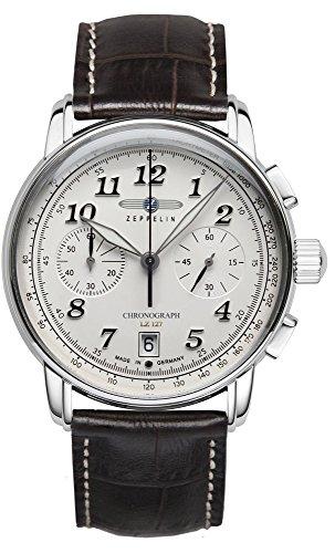 ツェッペリン 腕時計 メンズ ゼッペリン ドイツ Zeppelin Men's Watch LZ127 Chrono Stainless Steel White Dial 8674-1ツェッペリン 腕時計 メンズ ゼッペリン ドイツ