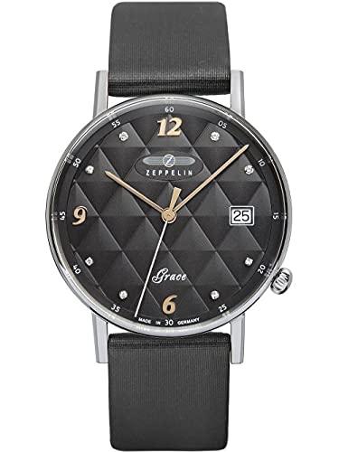 ツェッペリン 腕時計 メンズ ゼッペリン ドイツ Zeppelin Grace Lady Black Dial Stainless Steel Women's Watch 7441-2ツェッペリン 腕時計 メンズ ゼッペリン ドイツ
