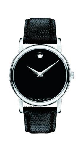 モバード 腕時計 メンズ Movado Men's 2100002 Museum Black Stainless Steel Watchモバード 腕時計 メンズ