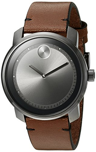 モバード 腕時計 メンズ 【送料無料】Movado Men's Swiss Quartz Stainless Steel and Brown Leather Casual Watch (Model: 3600366)モバード 腕時計 メンズ