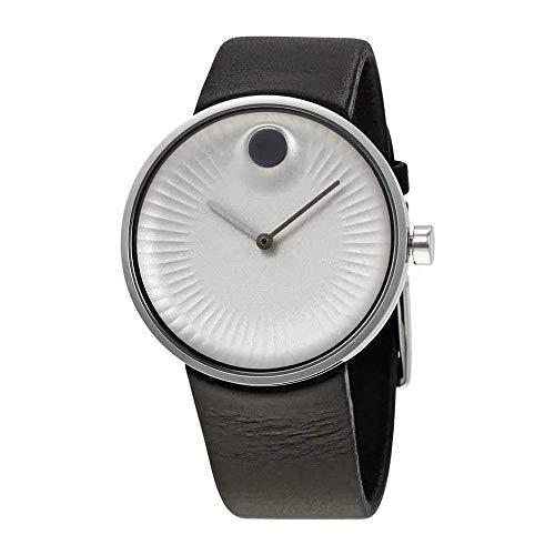 モバード 腕時計 メンズ 【送料無料】Movado Edge Silver Dial Leather Strap Men's Watch 3680001モバード 腕時計 メンズ