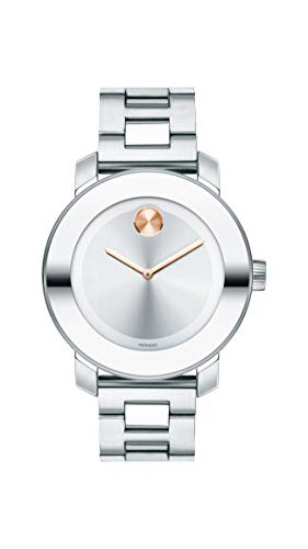モバード 腕時計 メンズ Movado Women's Bold Iconic Metal Watch with a Flat Dot Sunray Dial, Silver/Pink/Gold (Model 3600084)モバード 腕時計 メンズ