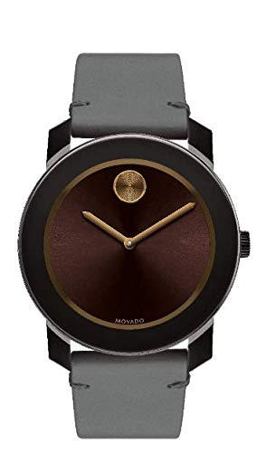 モバード 腕時計 メンズ Movado Bold, Brown Tr90 & Stainless Steel Case, Brown Dial, Grey Leather Strap, Men, 3600455モバード 腕時計 メンズ