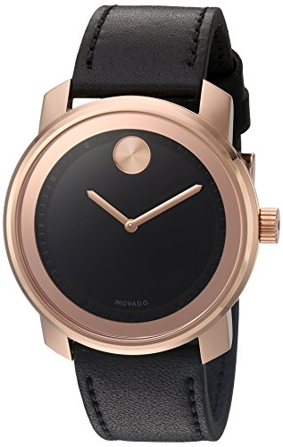 モバード 腕時計 メンズ Movado Men's Swiss Quartz Gold-Tone and Leather Watch, Color: Brown (Model: 3600376)モバード 腕時計 メンズ