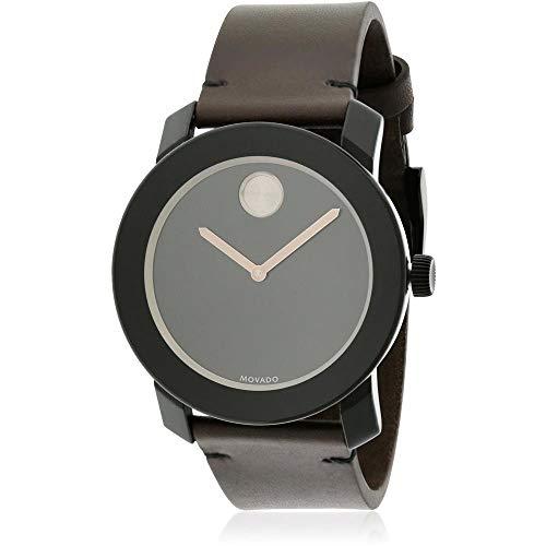 モバード 腕時計 メンズ Movado Men's Swiss Quartz Stainless Steel and Leather Casual Watch, Color:Brown (Model: 3600443)モバード 腕時計 メンズ