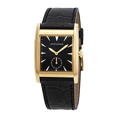 モバード 腕時計 メンズ Movado Men's Heritage Black Leather Band Steel Case Sapphire Crystal Swiss Quartz Analog Watch 3650049モバード 腕時計 メンズ