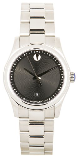 モバード 腕時計 メンズ Mens Watch Movado 0606481 Stainless Steel Sportivo Quartz Black Museum Dialモバード 腕時計 メンズ