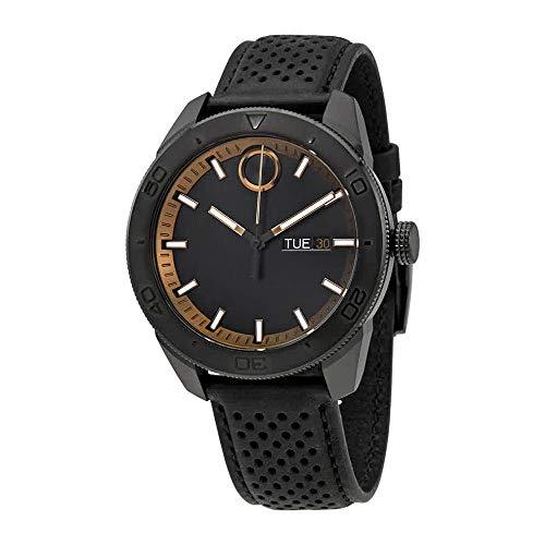 モバード 腕時計 メンズ Movado Bold Black Dial Black Leather Mens Watch 3600478モバード 腕時計 メンズ