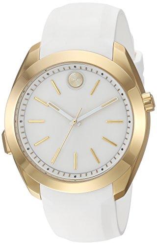 腕時計 モバード レディース 【送料無料】Movado Women's Stainless Steel Swiss-Quartz Watch with Silicone Strap, White, 20 (Model: 3660006)腕時計 モバード レディース
