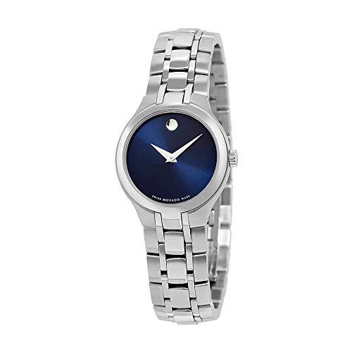 モバード 腕時計 レディース 【送料無料】Movado Blue Dial Stainless Steel Ladies Watch 0606370モバード 腕時計 レディース