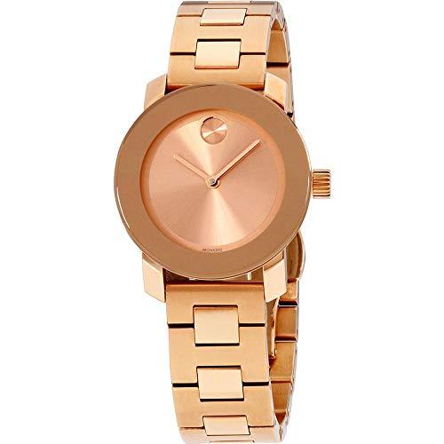 モバード 腕時計 レディース 【送料無料】Movado Women's Swiss-Quartz Watch with Gold-Plated-Stainless-Steel Strap, Rose, 15 (Model: 3600435)モバード 腕時計 レディース