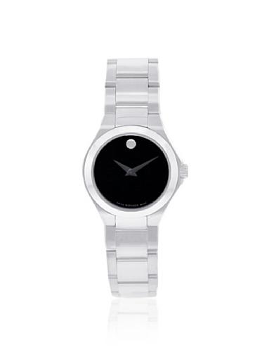 腕時計 モバード レディース 送料無料 Movado Women's 606334 Classic Silver Black Stainless Steel Watch腕時計 モバード レディース 通夜 返品保証 クリスマス