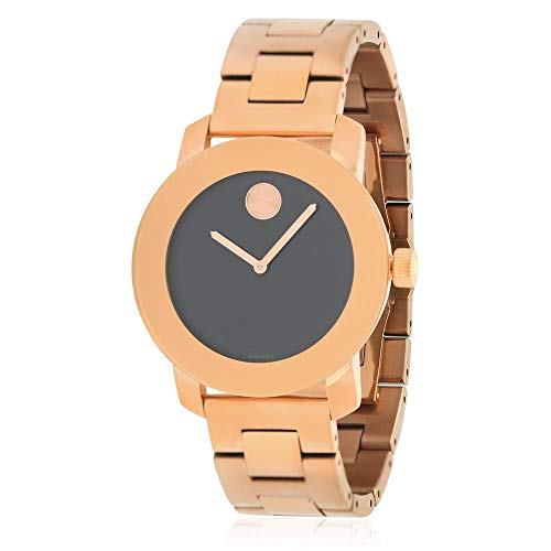 モバード 腕時計 レディース 【送料無料】Movado Bold Black Sunray Dial Unisex Rose Gold Tone Watch 3600463モバード 腕時計 レディース