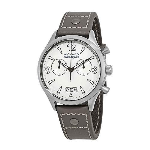 モバード 腕時計 レディース 【送料無料】Movado Heritage Grey Lacquer Dial Chronograph Ladies Watch 3650035モバード 腕時計 レディース