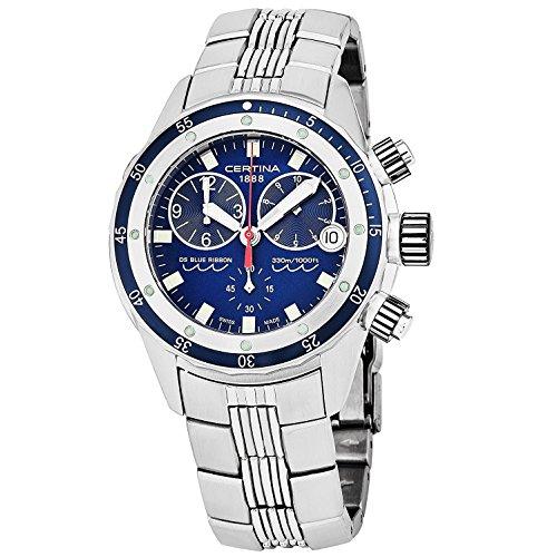 サーチナ 腕時計 メンズ スイス 【送料無料】Certina DS Blue Ribbon Men's Chronograph Watch C007.417.11.041.00 サーチナ 腕時計 メンズ スイス
