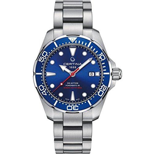 サーチナ 腕時計 メンズ スイス 【送料無料】Certina DS Action Diver Blue Dial Automatic Mens Watch C032.407.11.041.00 サーチナ 腕時計 メンズ スイス