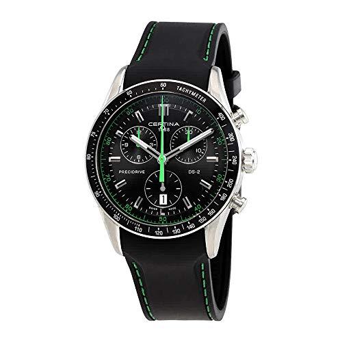 サーチナ 腕時計 メンズ スイス Certina DS-2 Black Dial Men's Quartz Watch C024.447.17.051.02 サーチナ 腕時計 メンズ スイス
