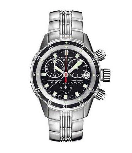 サーチナ 腕時計 メンズ スイス 【送料無料】Certina Men's DS Blue Ribbon Silver Stainless Steel Strap Black Dial Watch サーチナ 腕時計 メンズ スイス