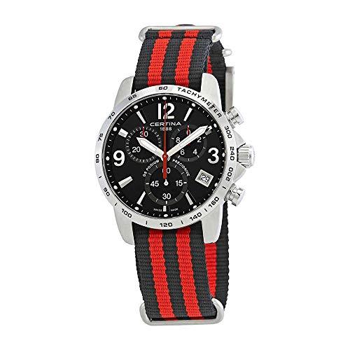 サーチナ 腕時計 メンズ スイス Certina DS Podium Chronograph Black Dial Mens Watch C034.417.18.057.00 サーチナ 腕時計 メンズ スイス