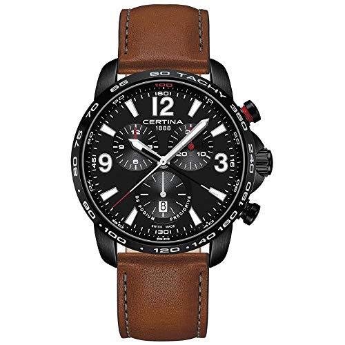サーチナ 腕時計 メンズ スイス 【送料無料】Certina DS Podium Chronograph Black Dial Men's Watch C001.647.36.057.00 サーチナ 腕時計 メンズ スイス