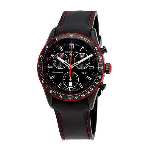 サーチナ 腕時計 メンズ スイス 【送料無料】Certina Men's DS-2 Black Silicone Band Steel Case Sapphire Crystal Quartz Analog Watch C024.447.17.051.33 サーチナ 腕時計 メンズ スイス