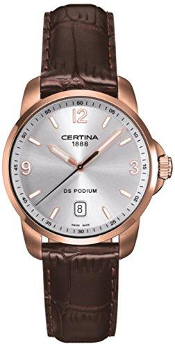 サーチナ 腕時計 メンズ スイス Certina - Wristwatch, Analog Quartz, Leather, Men サーチナ 腕時計 メンズ スイス