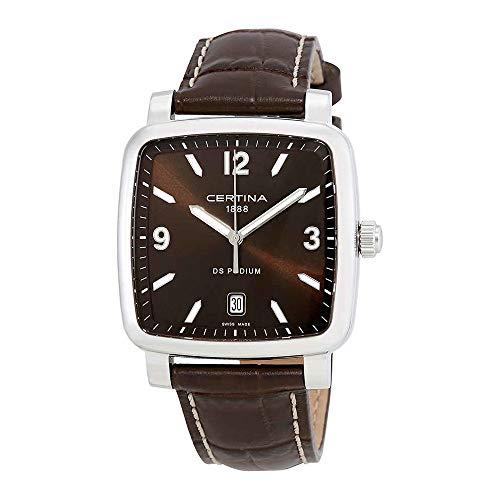 サーチナ 腕時計 メンズ スイス Certina DS Podium Brown Dial Black Leather Ladies Watch C025.510.16.297.00 サーチナ 腕時計 メンズ スイス