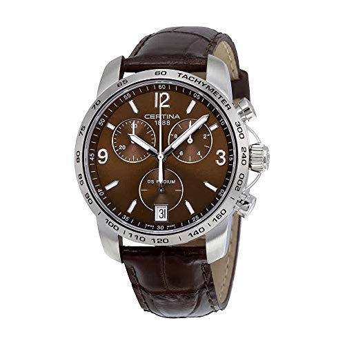 サーチナ 腕時計 メンズ スイス Certina - Wristwatch,Quartz Chronograph, Leather, Man 3 サーチナ 腕時計 メンズ スイス