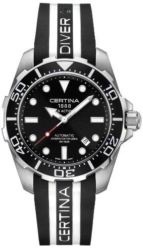 サーチナ 腕時計 メンズ スイス Certina - Wristwatch, Analog automatico, Caucciu, Men サーチナ 腕時計 メンズ スイス