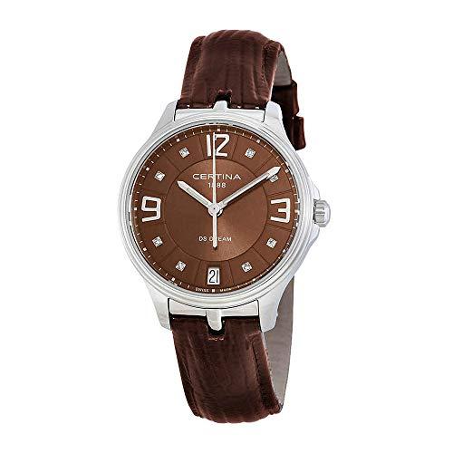 サーチナ 腕時計 レディース スイス 【送料無料】Certina DS Dream C021-210-16-296-00 Brown Strap with Brown Dial Leather Women's Watchサーチナ 腕時計 レディース スイス