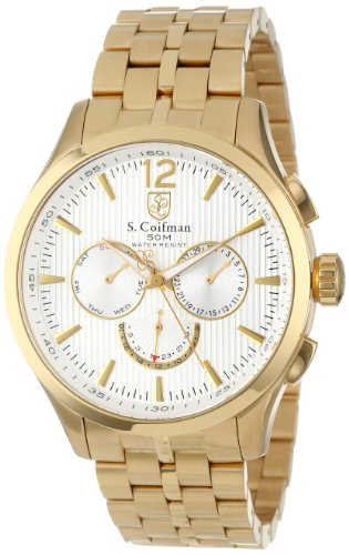 S.Coifman(コイフマン) 腕時計 メンズ S. Coifman Men's SC0127 Metallic White Dial 18k Gold Ion-Plated Stainless Steel WatchS.Coifman(コイフマン) 腕時計 メンズ