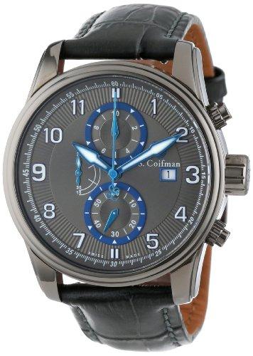 S.Coifman(コイフマン) 腕時計 メンズ 【送料無料】S. Coifman Men's SC0312 Chronograph Grey Dial Grey Leather WatchS.Coifman(コイフマン) 腕時計 メンズ