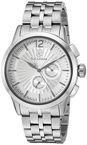 腕時計 S.Coifman(コイフマン) メンズ 【送料無料】S. Coifman 'Men's Bracelet' Swiss Quartz Stainless Steel Watch, Color:Silver-Toned (Model: SC0267)腕時計 S.Coifman(コイフマン) メンズ